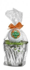 Glas inclusief golfbal en tees the mulligan ball