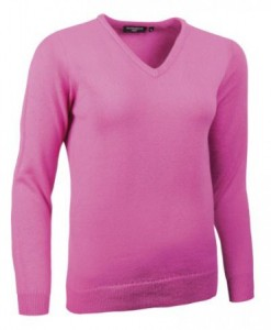 Glenmuir Pullover Lambswool - Hot Pink