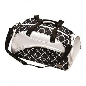 Glove It Golf Duffle Bags - Black and White Trellis