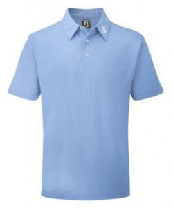 FootJoy Pique Solid polo Athletic Fit - Light Blue