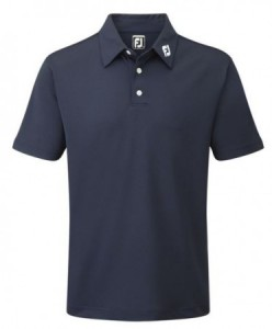 FootJoy Pique Solid polo Athletic Fit - Navy