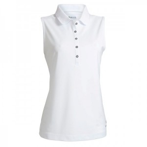 Backtee Ladies Performance Polo Top - White