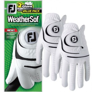 FJ WeatherSof - wit / 2 glove value pack