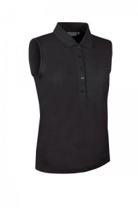 Glenmuir Sleeveless Performance Pique Polo - Black