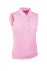 Glenmuir Sleeveless Performance Pique Polo -Pink