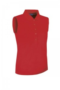 Glenmuir Sleeveless Performance Pique Polo - Red