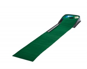 Golf putting mat met hazard