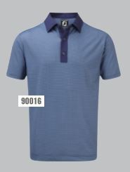 FootJoy Ocean Collection Performance Shirt - Blue Marlin & Twilight with twilight collar