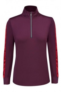 Daily Sports, Anna Long Sleeve Zip Neck - Wine