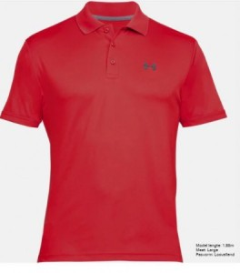 Under Armour Herenpolo Performance - red