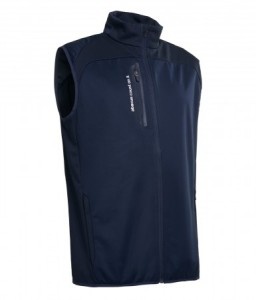 Abacus mens Arden Softshell Vest - Navy