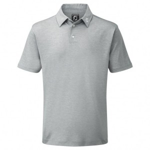 FootJoy Pique Solid polo Athletic Fit - Charcoal