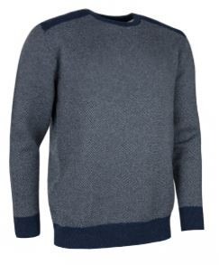 Glenmuir pullover Graham - Oxford Blue / Cliff