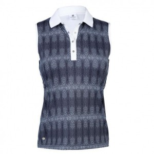 Daily Sports - Milou Sleeveless Polo - navy print