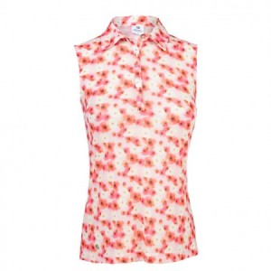 Daily Sports - Tori sleeveless polo - Coral
