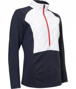 Abacus Lds Troon hybrid 1/2 zip - navy/white