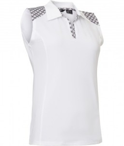 Abacus Lds Cherry sleeveless - White / Diamond