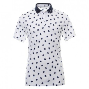 Calvin Klein Scarlar Golf Polo - White/Navy