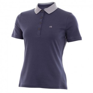 Calvin Klein katoen mix polo - Navy Heather