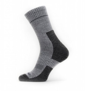 Sealskinz Solo Quickdry Ankle Lenght Sock - grey/navy