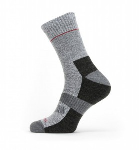 Sealskinz Solo Quick Dry Ankle Length Sock - Grey/Black/Red