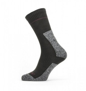 Sealskinz Solo Quick Dry Ankle Lenght Sock - Black/Grey/Red