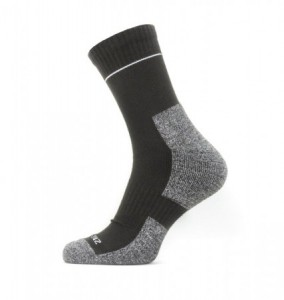Sealskinz Solo Quick Dry Ankle Lenght Sock - Black/Grey