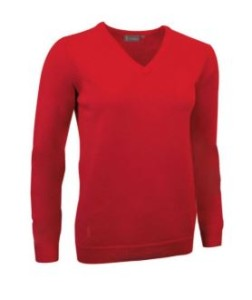 Glenmuir Lambswool Pullover V-neck - Rood