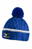 Mizuno Cable Knit Bobble - royal blue / white