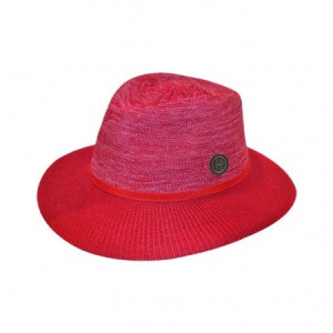 House of Ord - Aston Fedora Women - Mixed Red